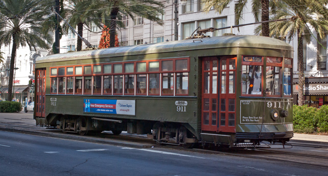 Picturesque New Orleans Street Car