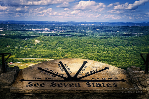 See 7 states from the top of Lookout Mountain